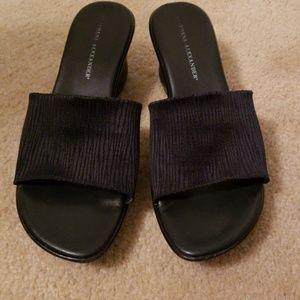 Navy blue sandals 8